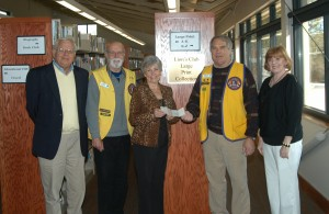 Lions Donation to The Friends of Tellico Village Library